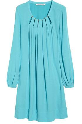 Spring Collection - Diane Von Furstenberg Beres Cutout Crepe Dress - Net-a-Porter $357.00