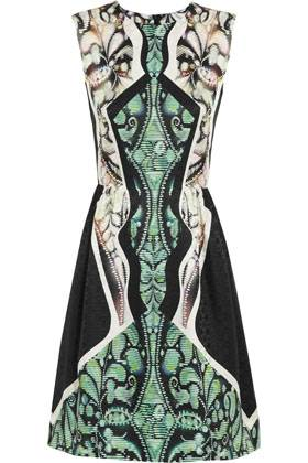 Autumn Collection - Peter Pilotto- Alexa Printed Jaquard Autumn Dress - Net-a-Porter $855.73