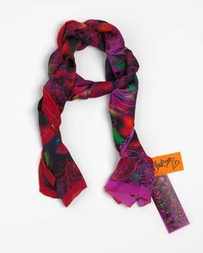 Red Opal Waratah Silk Scarf by Artist Linda Jackson NGV Shop $260.00