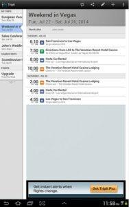 Screenshot of Tripit- Image Source:  TripIt App page