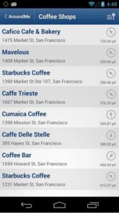 AroundMe Screenshot - Image Source: AroundMe App store