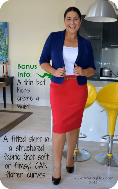 Skirts for curves pencil skirt