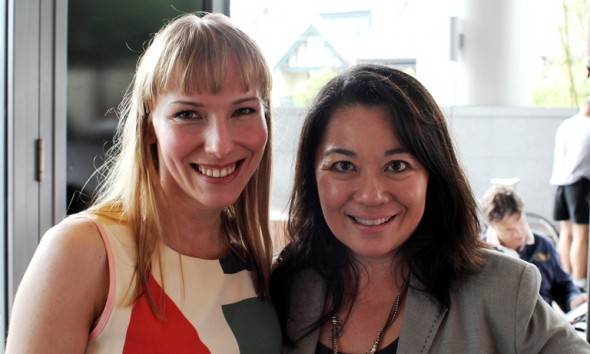 With Valerie Khoo, founder and managing director of Sydney Writers' Centre