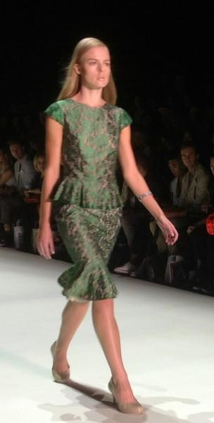 Emerald green at MBFW 2013