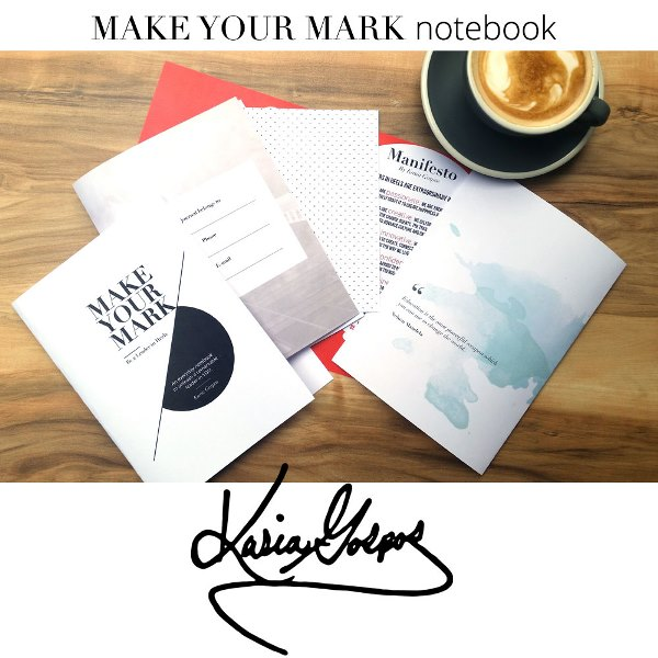 make your mark notebook by kasia gospos